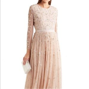 needle & thread Blush Celestial Embellished Gown